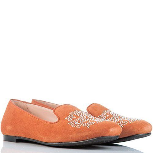 Слиперы SKA замшевые пастельно-оранжевые, фото