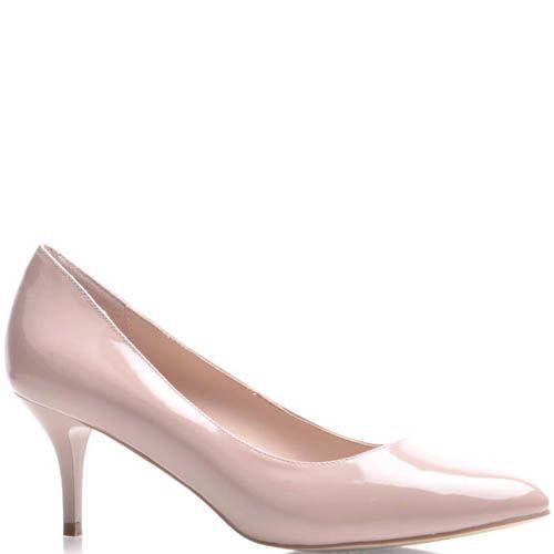 Туфли-лодочки Prego лаковые бежевого цвета, фото