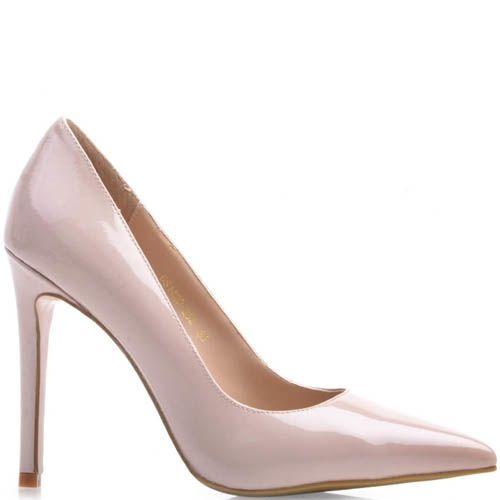 Туфли-лодочки Prego лаковые нежно-розового цвета с узким носком, фото