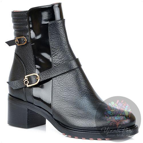 Ботинки Giorgio Fabiani кожаные с лаковыми вставками и ремешками, фото