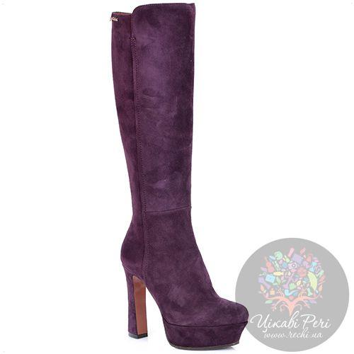 Сапоги Giorgio Fabiani пурпурные замшевые осенние, фото