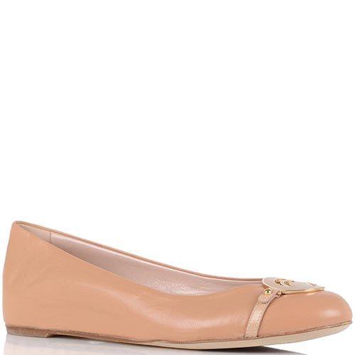 Бежевые туфли Giorgio Fabiani с брендированной пряжкой, фото