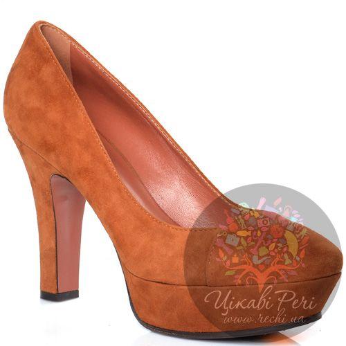 Туфли Giorgio Fabiani замшевые терракотовые, фото