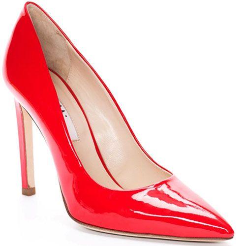 Туфли-лодочки Reda Milano из натуральной лаковой кожи ярко-красного цвета, фото