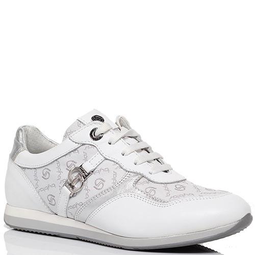 Кожаные кроссовки белого цвета Byblos, фото