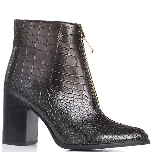 f227f8b8f242 ☆ Ботинки Armani Jeans коричневого цвета с металлическим отливом ...