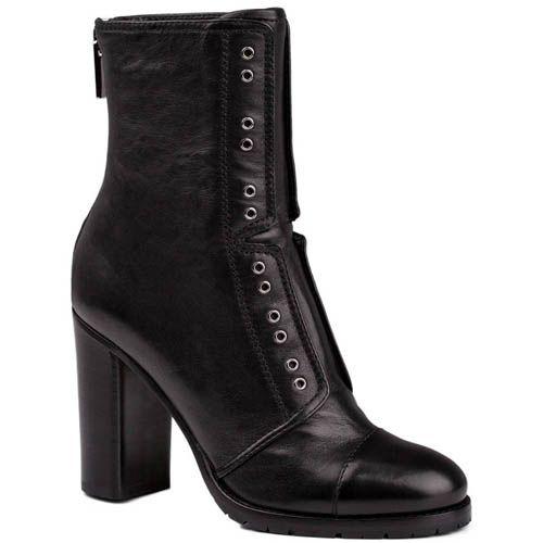 Ботинки Jimmy Choo черного цвета с декоративными люверсами, фото