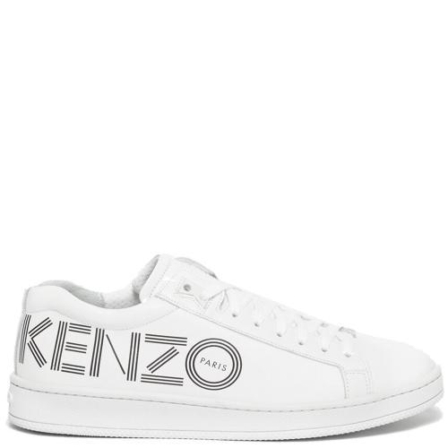 Женские кеды Kenzo с лого в белом цвете, фото