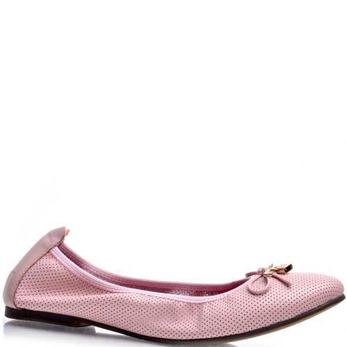 Балетки Prego розового цвета на резинке, фото