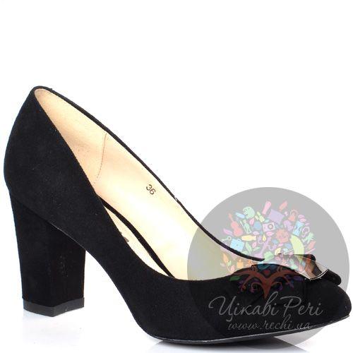 Туфли Laura Mannini by Fiordiluna черные замшевые с деликатным бантиком, фото