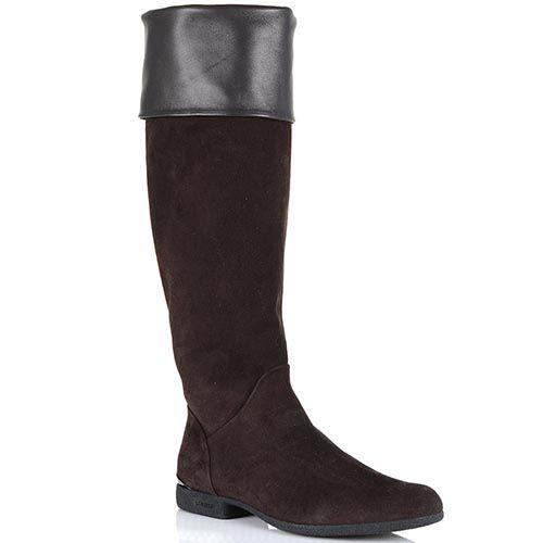 Замшевые ботфорты Loriblu коричневого цвета, фото