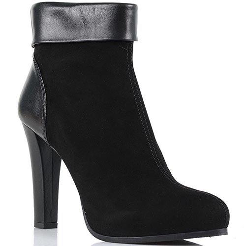 Замшевые ботинки Loriblu с кожаной пяточкой и отворотом, фото