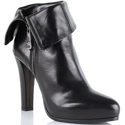 Женские ботинки Loriblu на среднем каблуке с декоративным отворотом, фото