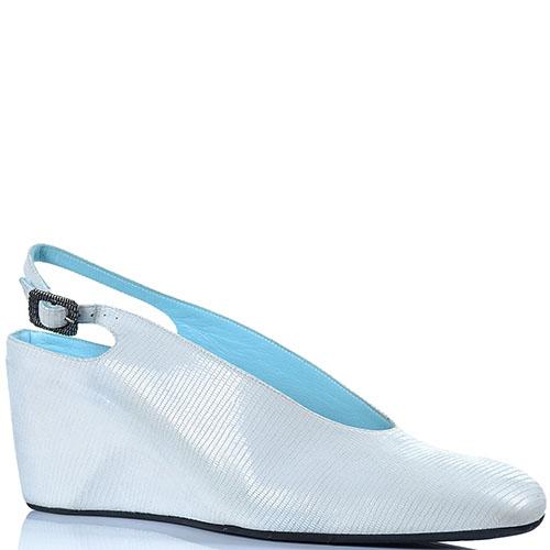 Туфли Thierry Rabotin белого цвета с открытой пяточкой, фото