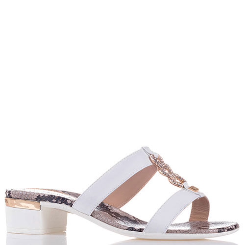 Лаковые шлепанцы Loretta Pettinari на низком каблуке, фото