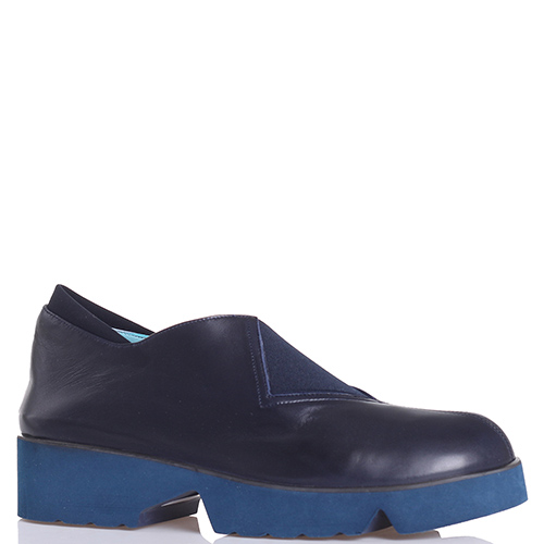 Синие туфли Thierry Rabotin со вставками-резинками, фото