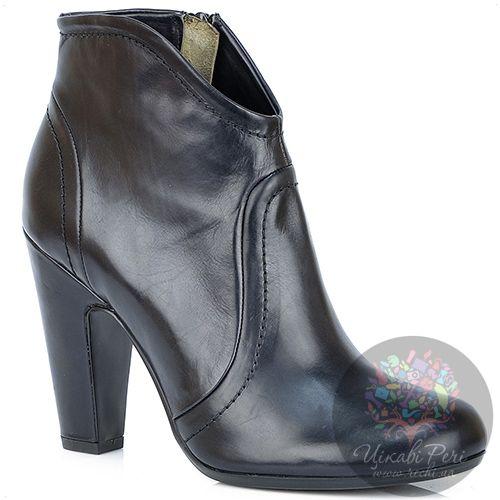 Ботильоны Laura Mannini кожаные черные на английском каблуке, фото
