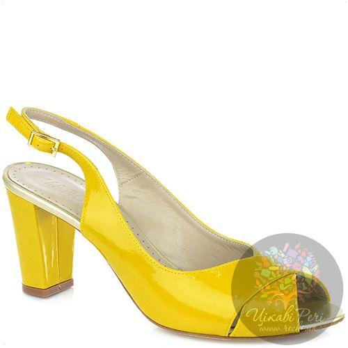 Босоножки Marc Ellis из желтой лаковой кожи, фото