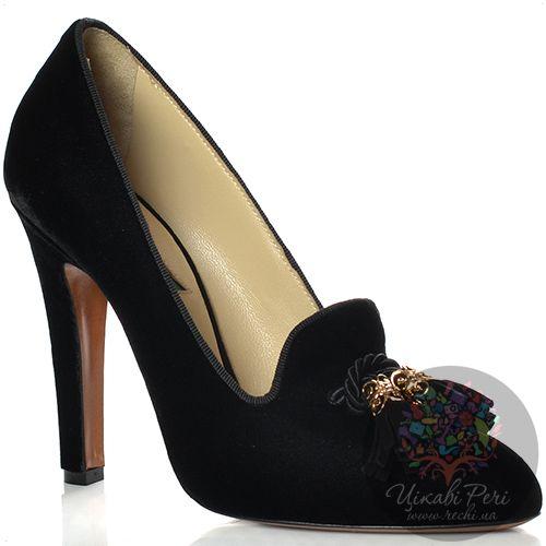 Лоферы Etro на каблуке замшевые черные, фото