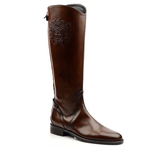 Женские сапоги Eсlat коричневые, фото