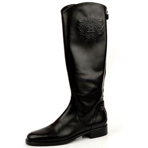 Женские сапоги Eсlat черные, фото