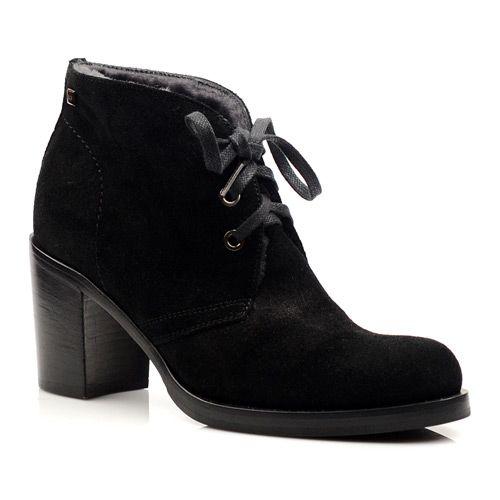 Женские зимние замшевые ботинки Norma J Baker черные, фото
