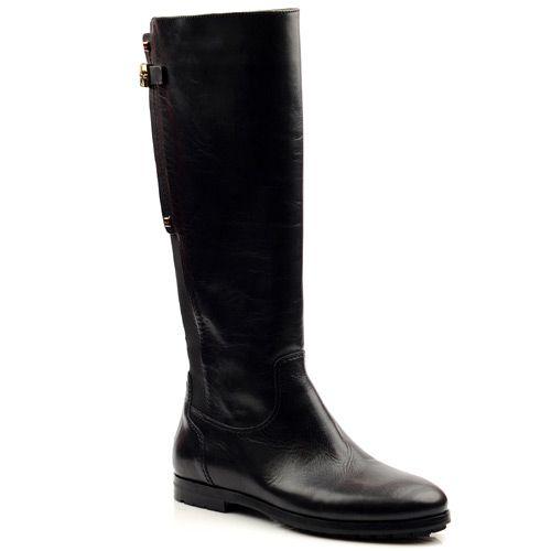 Женские кожаные сапоги Norma J Baker черные, фото