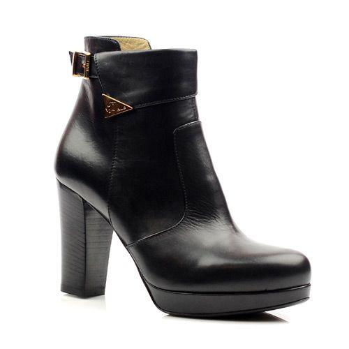 Женские кожаные ботинки Norma J Baker черные, фото