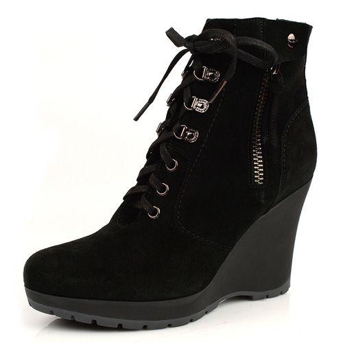 Зимние ботинки на меху Norma J Baker черные, фото