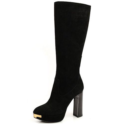 Роскошные замшевые сапоги Norma J Baker черные, фото