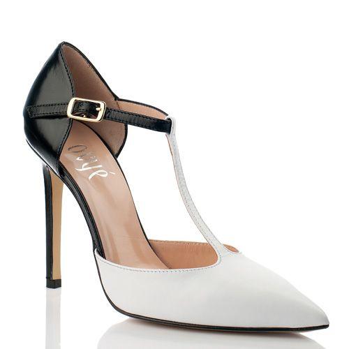 Элегантные черно-белые туфли Ovye, фото