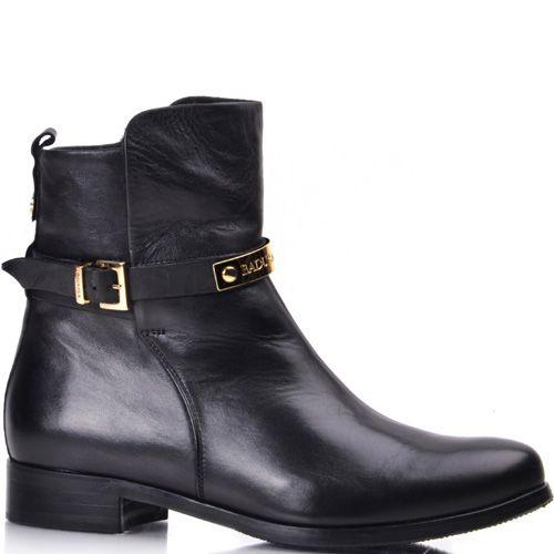 Кожаные ботинки Вadura черные на низком ходу, фото