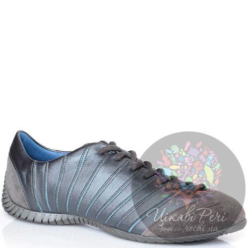 Кеды Pirelli из серебристо-голубоватого текстиля и серой замши, фото