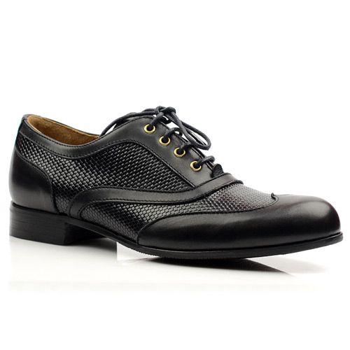 Женские кожаные туфли Pollini черные, фото