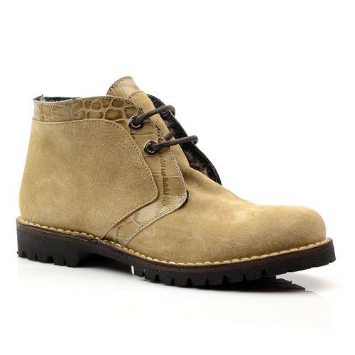 Женские ботинки замшевые Studio Pollini бежевые, фото