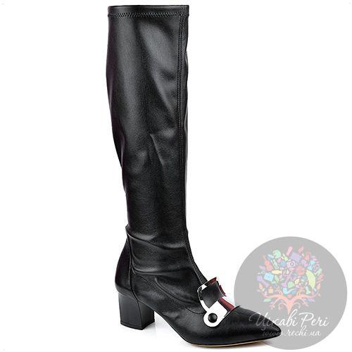 Сапоги-чулки Pollini черные с узким носком, фото