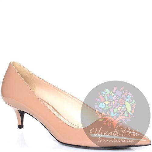 Туфли Prada из лаковой кожи цвета пудры, фото
