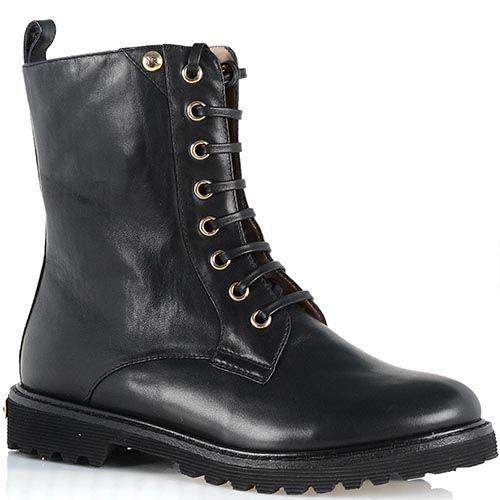 Стильные кожаные ботинки Giorgio Fabiani черного цвета, фото