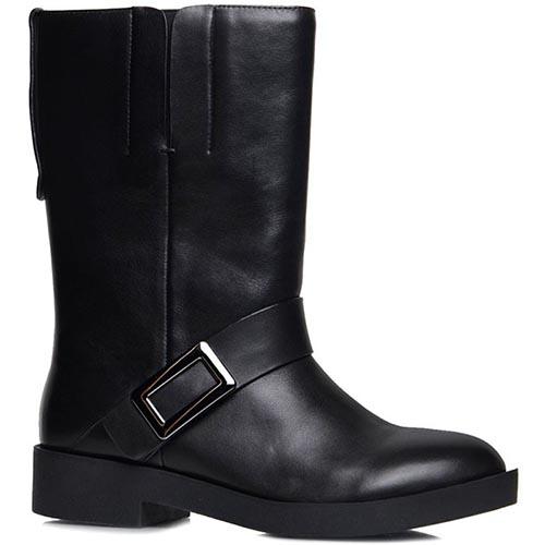 Высокие ботинки Prego черного цвета с ремешком, фото