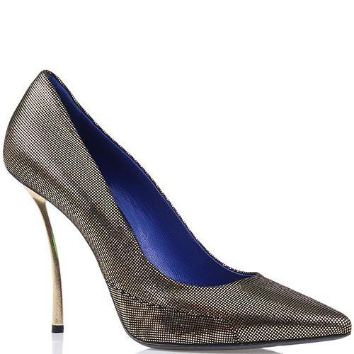 Женские туфли Raphael Young из натуральной кожи с лазерной обработкой на изогнутом каблуке-шпильке, фото