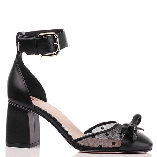 Черные туфли Red Valentino на среднем каблуке, фото