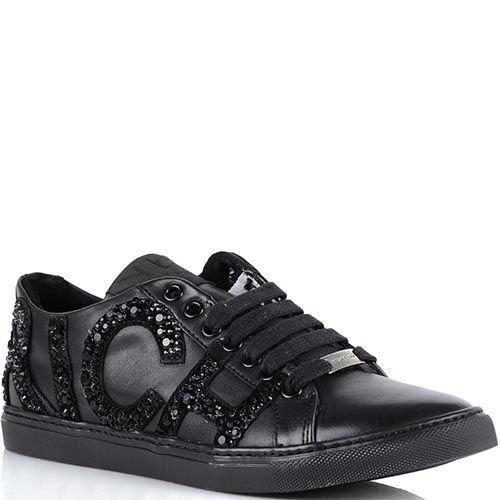 Женские кроссовки Richmond черного цвета из натуральной кожи, фото