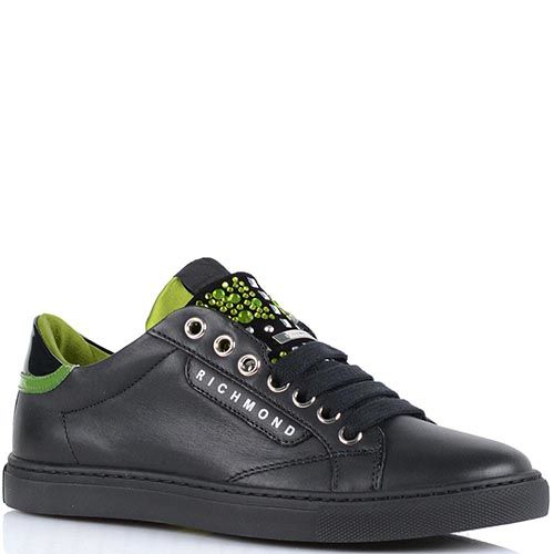 Кроссовки Richmond черно-салатового цвета, фото