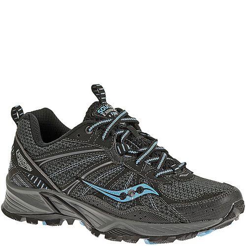 Беговые кроссовки Saucony Excursion TR8 черные с голубым, фото