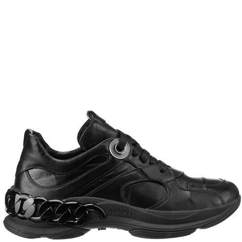 Женские кроссовки Casadei с декором черного цвета, фото