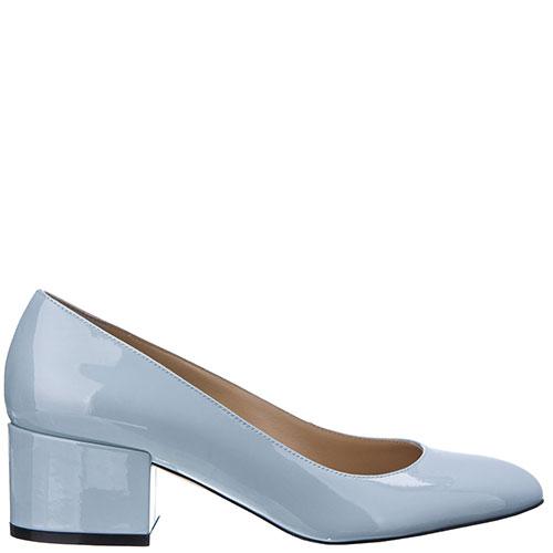 Лаковые туфли Sergio Rossi голубого цвета, фото