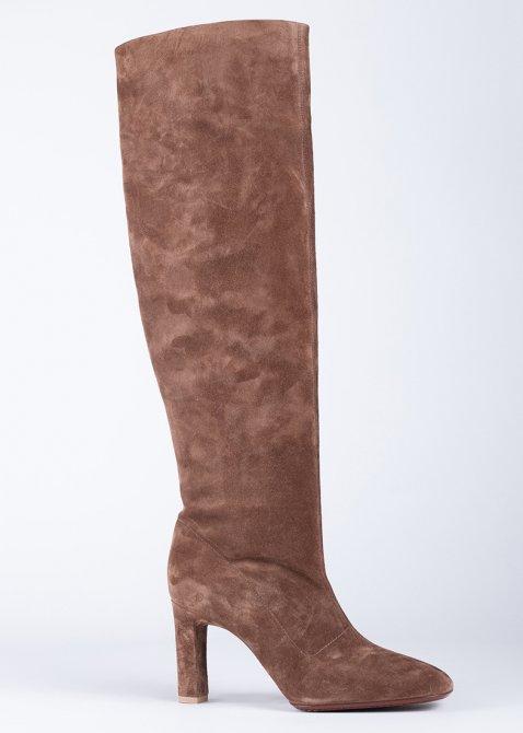 Сапоги Santoni из светло-коричневой замши, фото