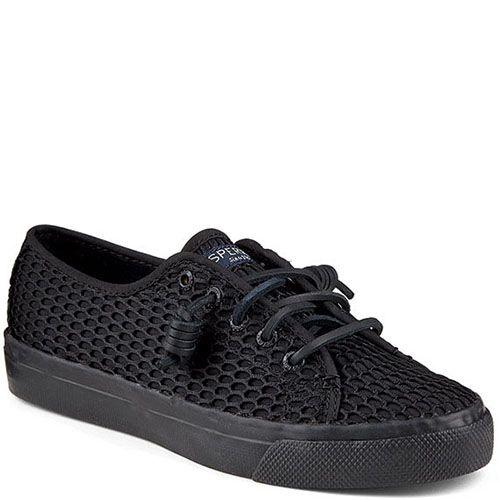 Кеды Sperry черного цвета на шнуровке, фото