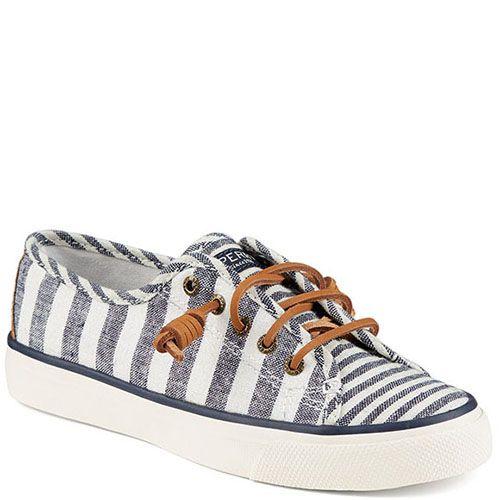 Кеды Sperry бело-голубые на шнуровке, фото