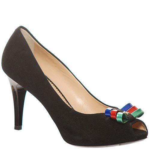 Туфли Marino Fabiani замшевые черногот цвета, фото